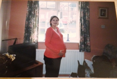 A pregnant me in 1999