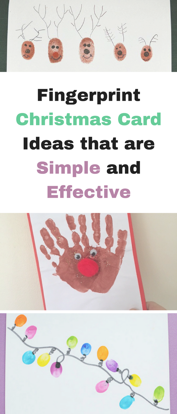 Fingerprint Christmas Card Ideas - Emma and 3 Saves