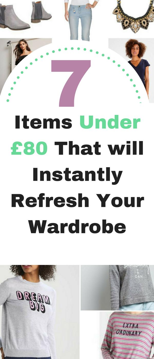 7 items under £80 that will instantly refresh your wardrobe by Emma at Mums Savvy Savings. #Clothing #MoneySaving #RefreshWardrobe
