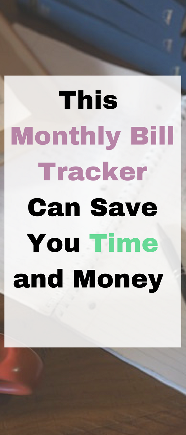 Here's a monthly bill tracker that can save you time and money by Emma at Mums Savvy Savings. #BudgetPlanning #SavingMoney #SavingTime