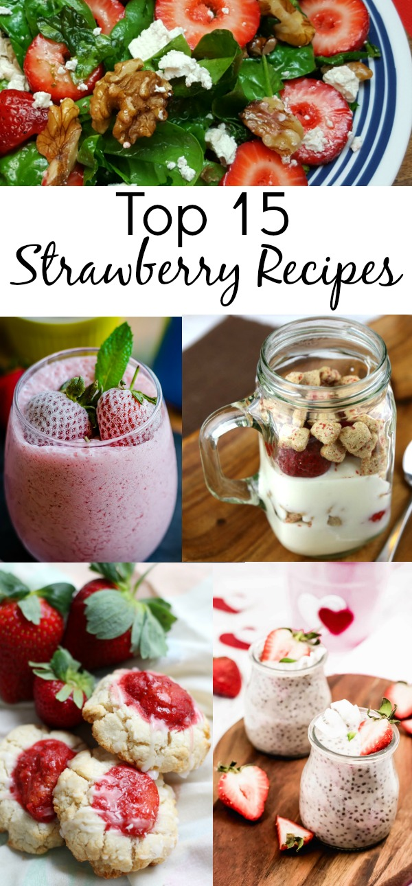 Easy Mouthwatering Strawberry Dessert Recipes for the Family inc smoothies, granola and cake with strawberry