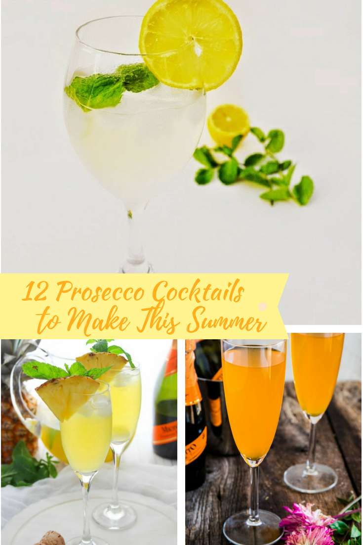 12 Prosecco Cocktails to Make This Summer #cocktails #prosecco #girlsnight